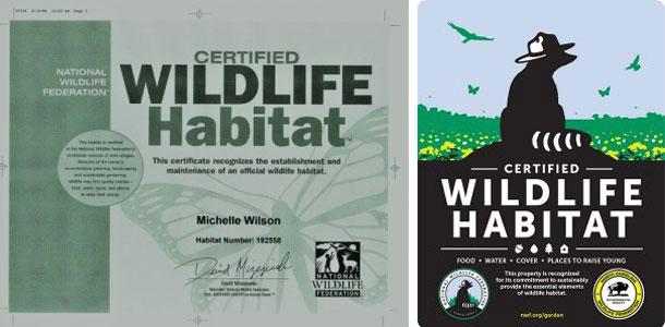 Wildlife Habitat Certificate